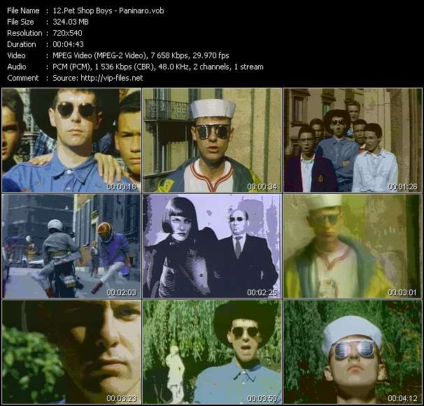Screenshot of Music Video Pet Shop Boys - Paninaro