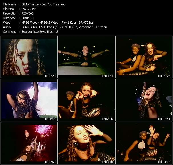 Screenshot of Music Video N-Trance - Set You Free