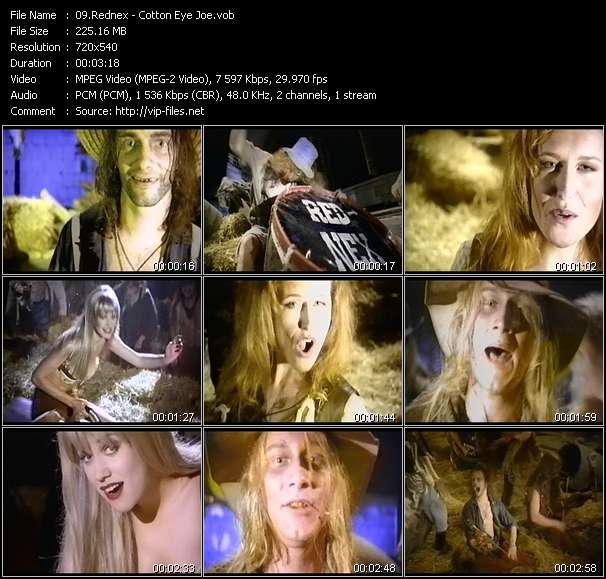 Screenshot of Music Video Rednex - Cotton Eye Joe
