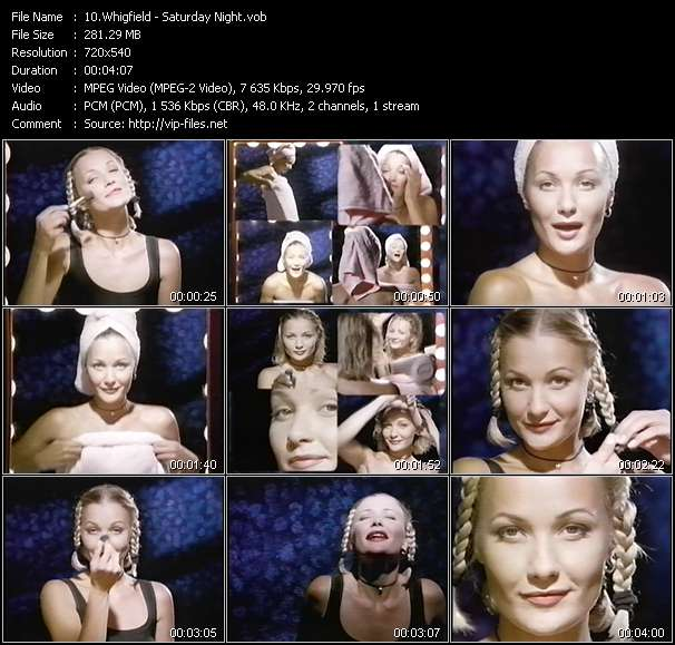 Screenshot of Music Video Whigfield - Saturday Night