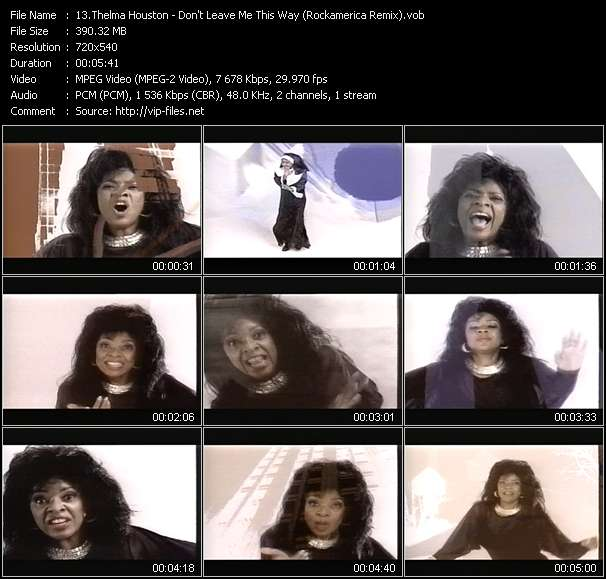 Thelma Houston video vob