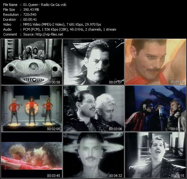 Screenshot of Music Video Queen - Radio Ga Ga