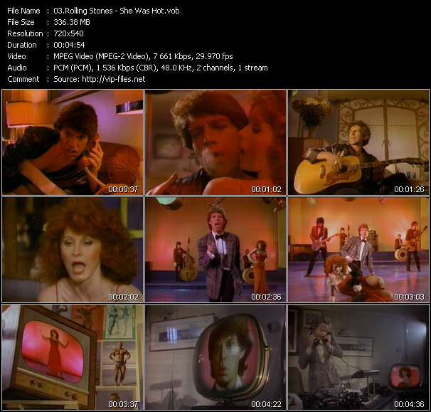 Screenshot of Music Video Rolling Stones - She Was Hot