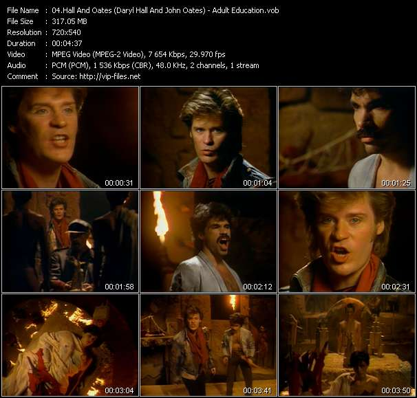 Screenshot of Music Video Hall And Oates (Daryl Hall And John Oates) - Adult Education