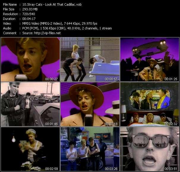 Screenshot of Music Video Stray Cats - Look At That Cadillac