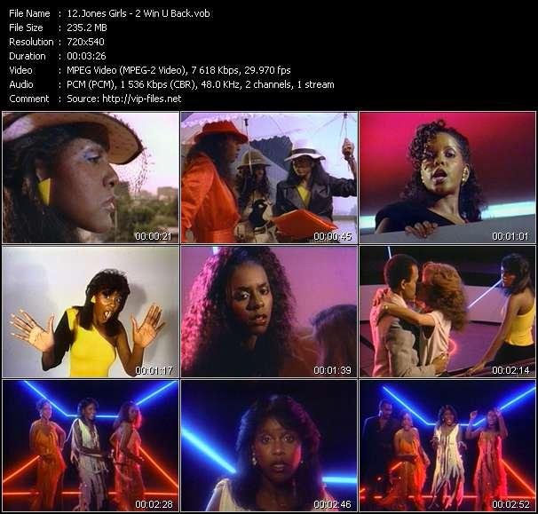 Jones Girls clips musicaux vob