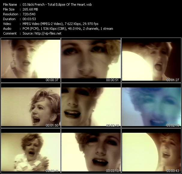 Screenshot of Music Video Nicki French - Total Eclipse Of The Heart
