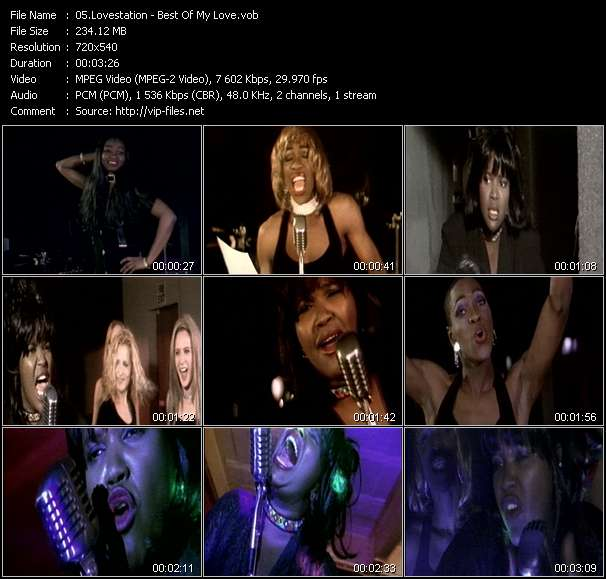 Screenshot of Music Video Lovestation - Best Of My Love