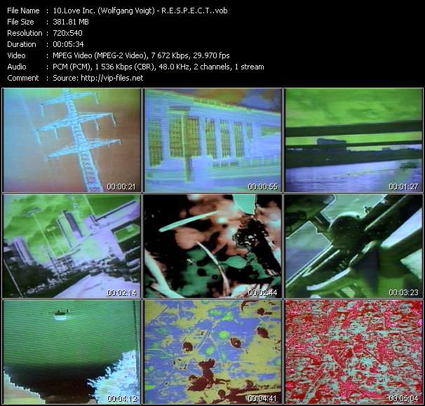 Screenshot of Music Video Love Inc. (Wolfgang Voigt) - R.E.S.P.E.C.T.