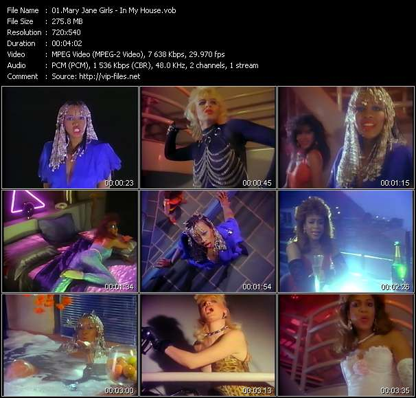 Screenshot of Music Video Mary Jane Girls - In My House