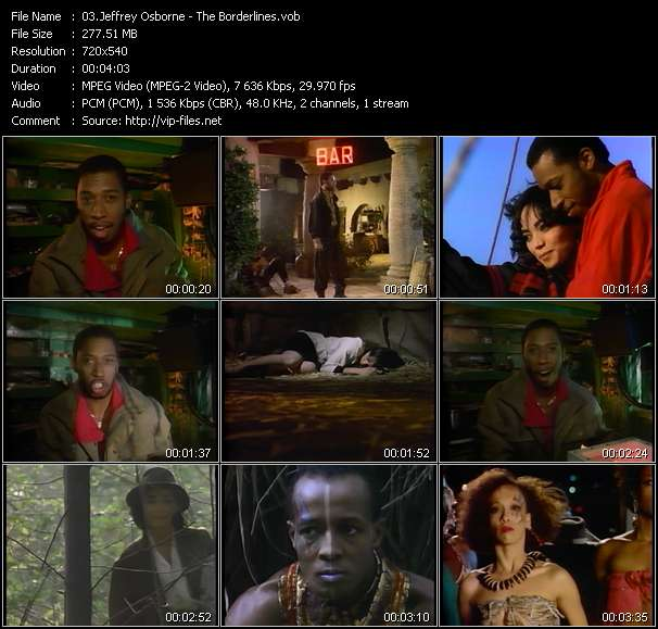 Screenshot of Music Video Jeffrey Osborne - The Borderlines