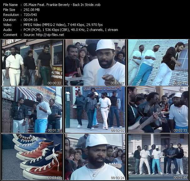 Screenshot of Music Video Maze Feat. Frankie Beverly - Back In Stride