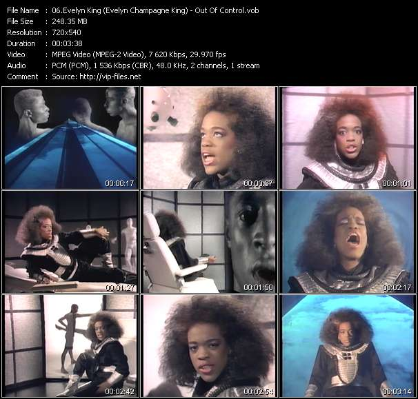 Screenshot of Music Video Evelyn King (Evelyn Champagne King) - Out Of Control