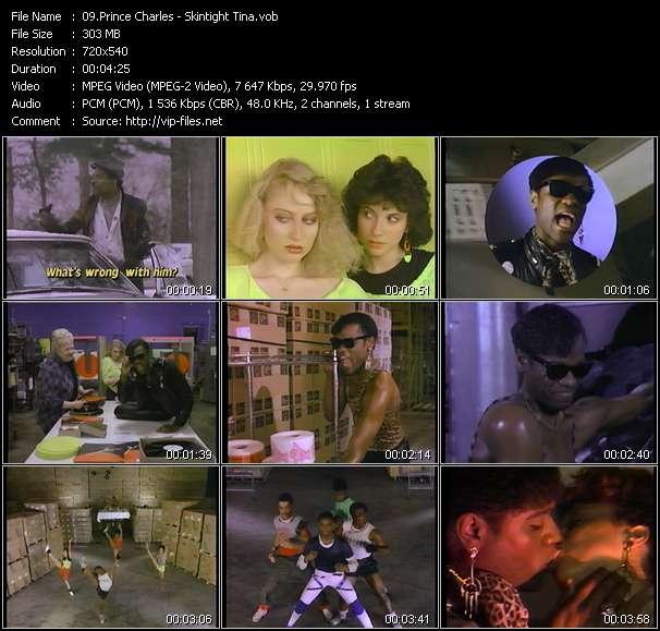 Screenshot of Music Video Prince Charles - Skintight Tina