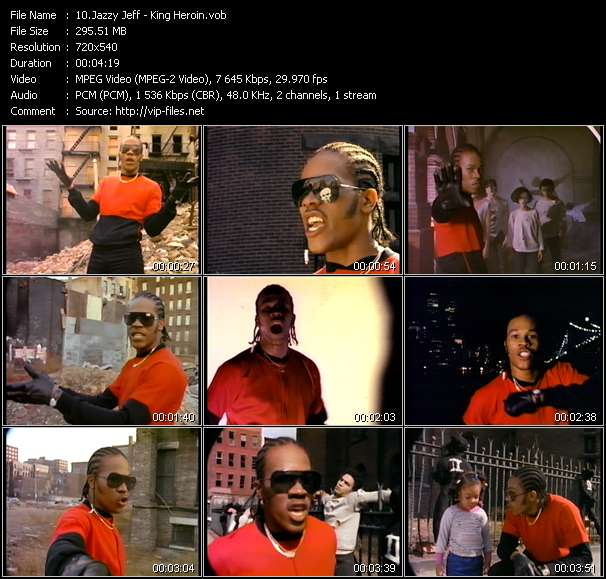 Screenshot of Music Video Jazzy Jeff - King Heroin
