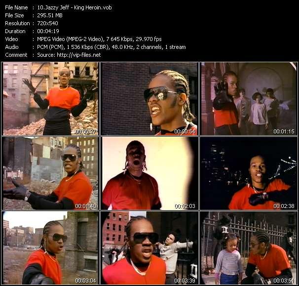 Screenshot of Music Video Jazzy Jeff - King Heroin