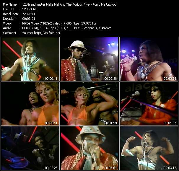 Screenshot of Music Video Grandmaster Melle Mel And The Furious Five - Pump Me Up