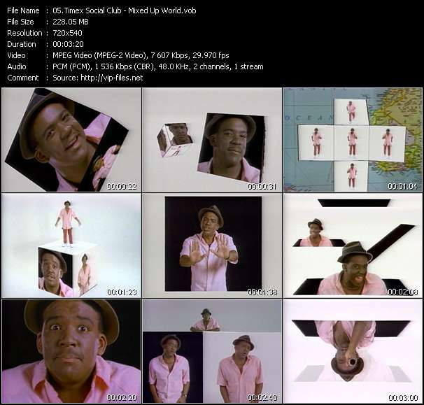 Screenshot of Music Video Timex Social Club - Mixed Up World