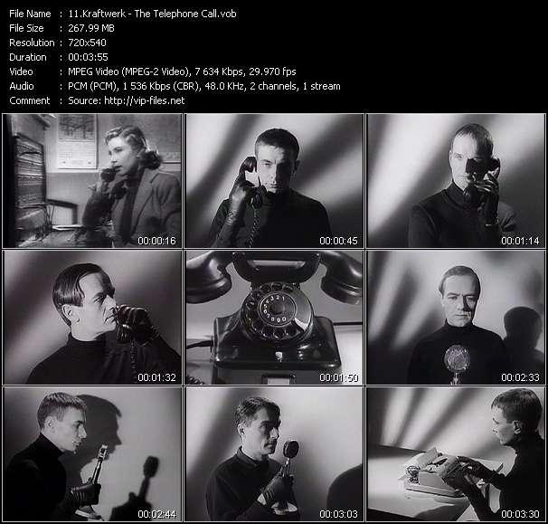 Screenshot of Music Video Kraftwerk - The Telephone Call
