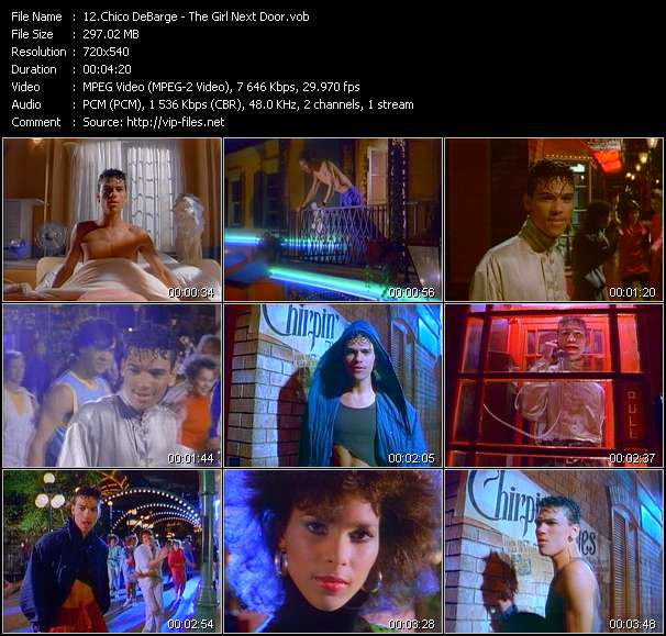 Screenshot of Music Video Chico DeBarge - The Girl Next Door