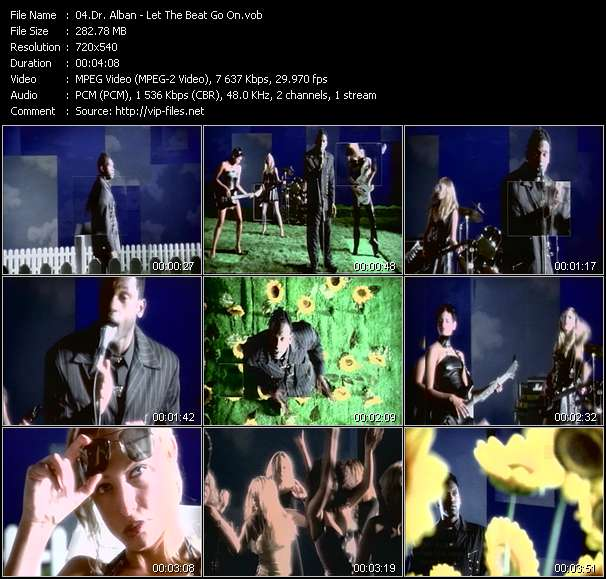 Screenshot of Music Video Dr. Alban - Let The Beat Go On