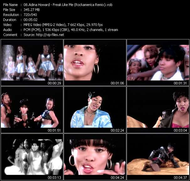 Screenshot of Music Video Adina Howard - Freak Like Me (Rockamerica Remix)