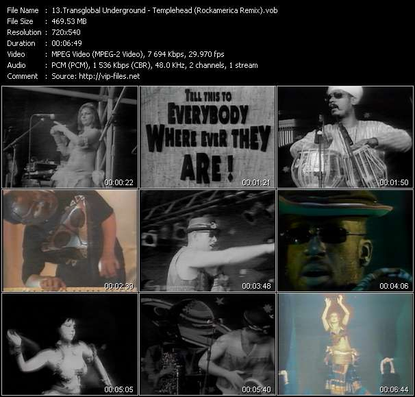 Screenshot of Music Video Transglobal Underground - Templehead (Rockamerica Remix)