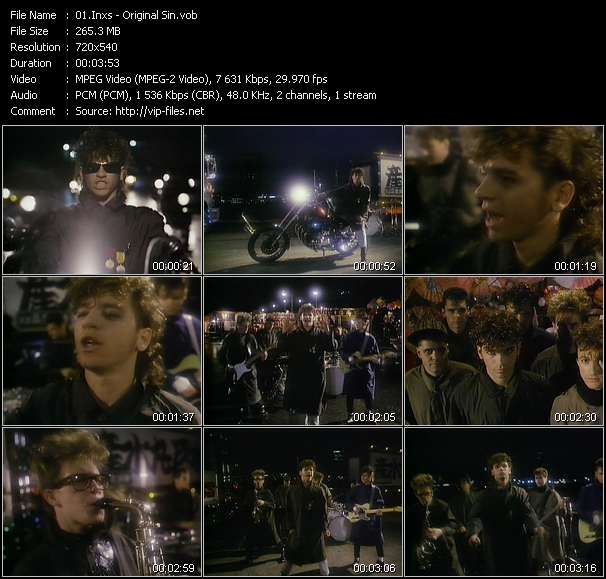 Screenshot of Music Video Inxs - Original Sin