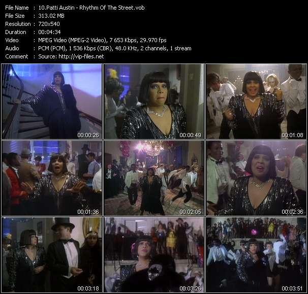 Screenshot of Music Video Patti Austin - Rhythm Of The Street