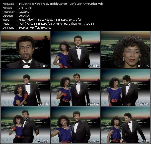 Screenshot of Music Video Dennis Edwards Feat. Siedah Garrett - Don't Look Any Further