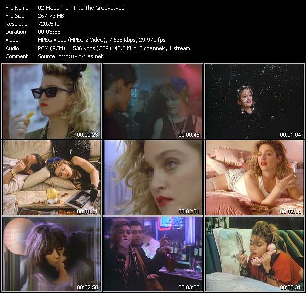 Screenshot of Music Video Madonna - Into The Groove