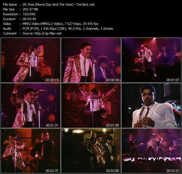 Screenshot of Music Video Time (Morris Day And The Time) - The Bird
