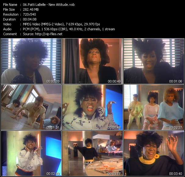 Screenshot of Music Video Patti LaBelle - New Attitude