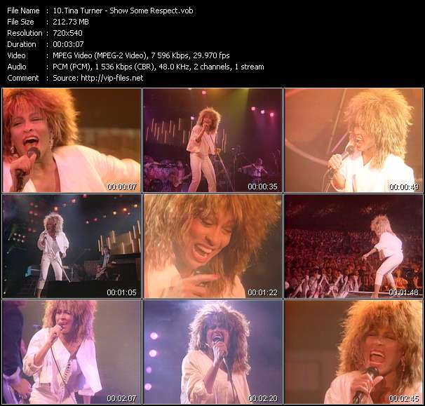 Screenshot of Music Video Tina Turner - Show Some Respect