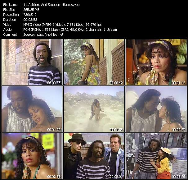 Screenshot of Music Video Ashford And Simpson - Babies