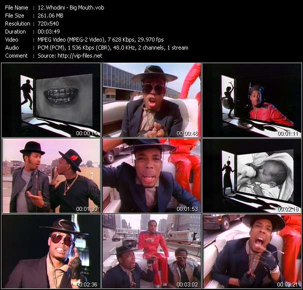 Screenshot of Music Video Whodini - Big Mouth