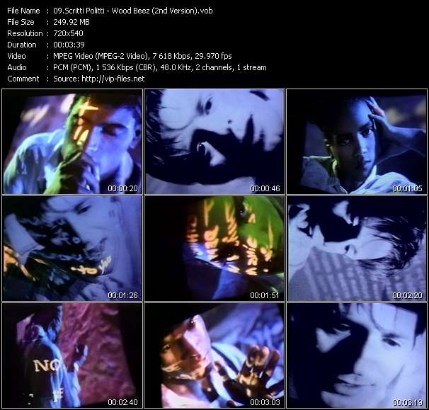 Screenshot of Music Video Scritti Politti - Wood Beez (2nd Version)