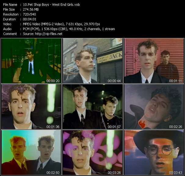 Screenshot of Music Video Pet Shop Boys - West End Girls