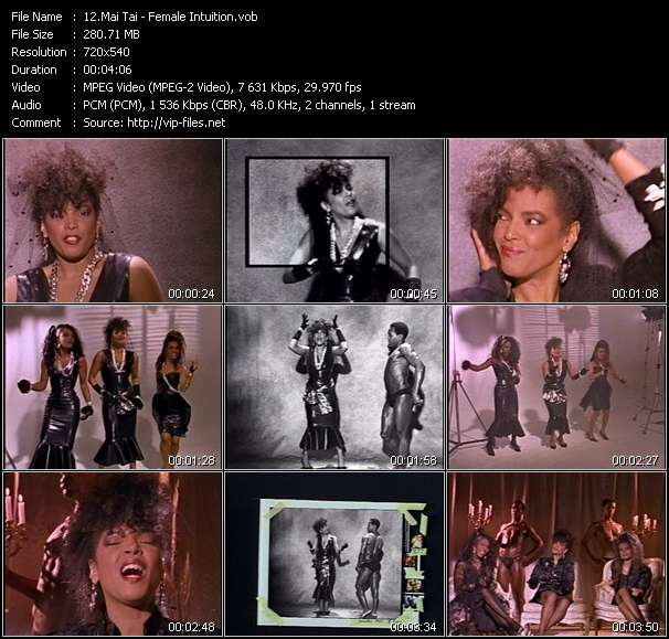 Screenshot of Music Video Mai Tai - Female Intuition