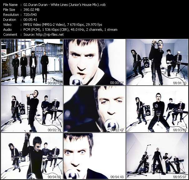 Screenshot of Music Video Duran Duran - White Lines (Junior's House Mix)
