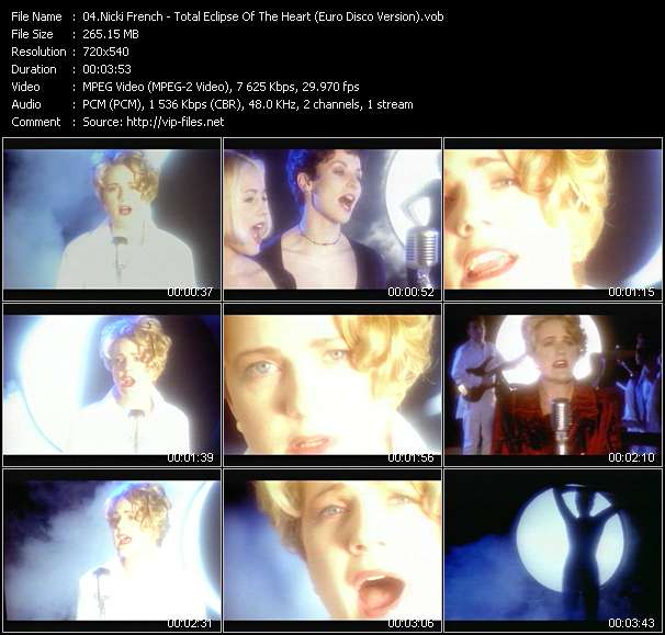 Screenshot of Music Video Nicki French - Total Eclipse Of The Heart (Euro Disco Version)