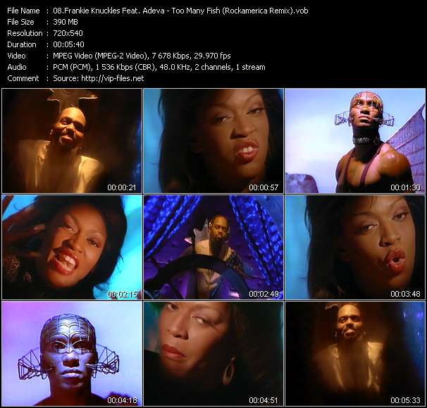 Screenshot of Music Video Frankie Knuckles Feat. Adeva - Too Many Fish (Rockamerica Remix)