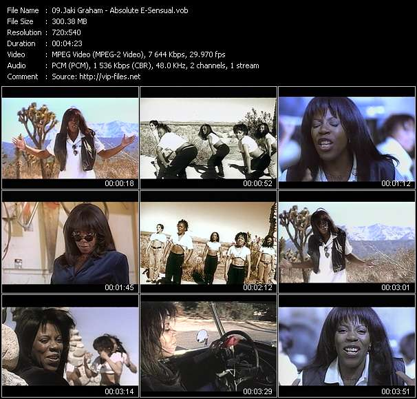 Screenshot of Music Video Jaki Graham - Absolute E-Sensual