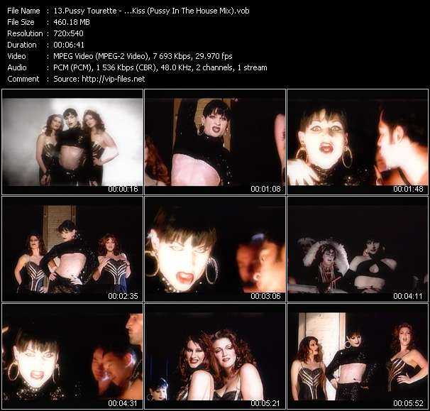 Screenshot of Music Video Pussy Tourette - ...Kiss (Pussy In The House Mix)