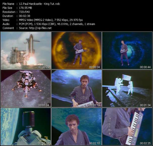 Screenshot of Music Video Paul Hardcastle - King Tut
