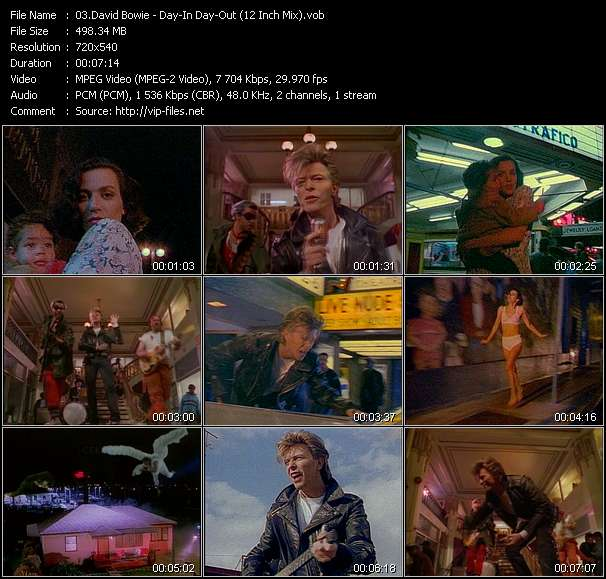 David Bowie video vob