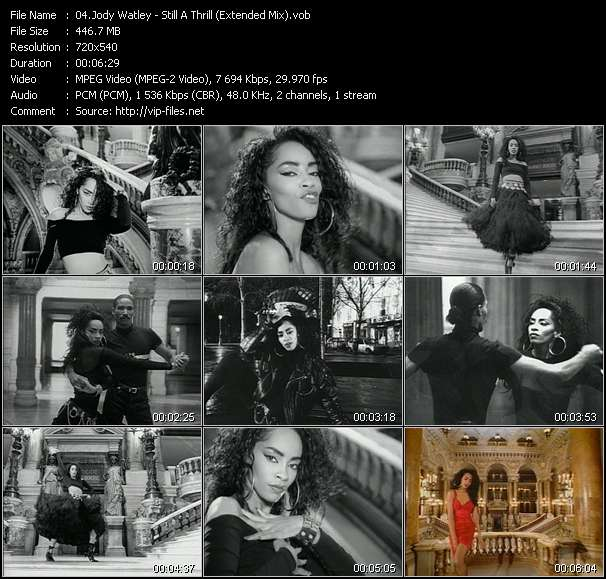 Screenshot of Music Video Jody Watley - Still A Thrill (Extended Mix)