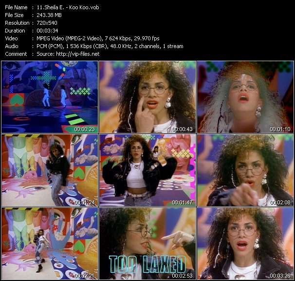 Sheila E. clips musicaux vob