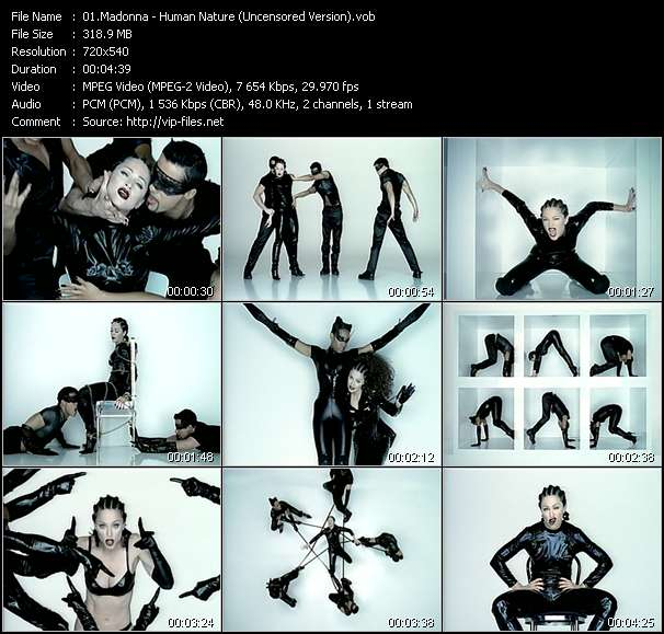 Screenshot of Music Video Madonna - Human Nature (Uncensored Version)
