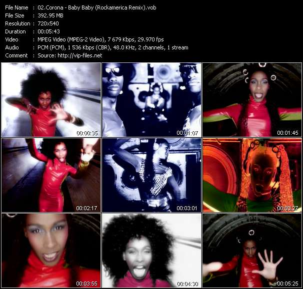 Screenshot of Music Video Corona - Baby Baby (Rockamerica Remix)